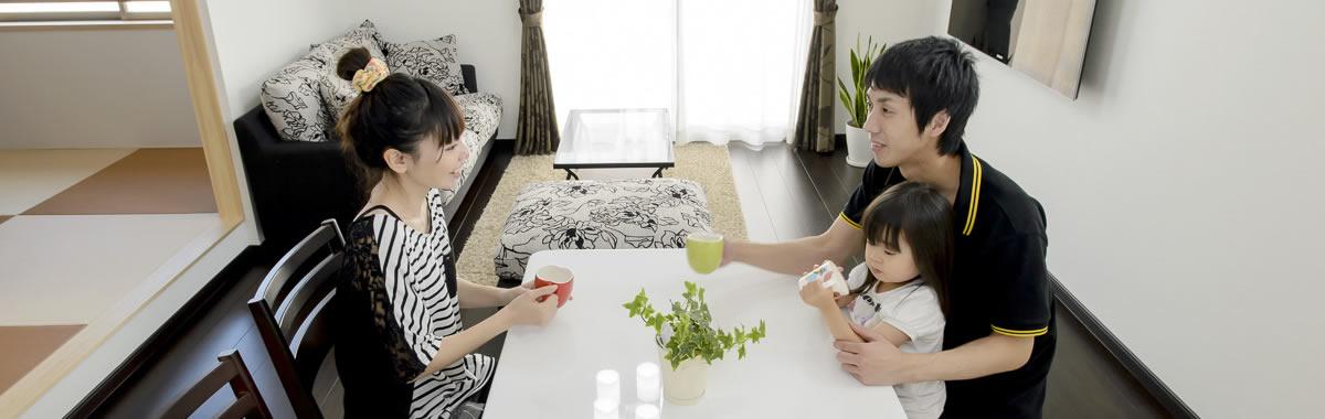 徳島の実例・和室は子供たちのプレイルーム。子育て世代に向けて開発された家